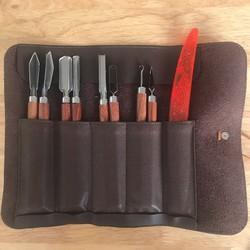Bộ dao sủi tỉa chuyên nghiệp 9 món cán gỗ