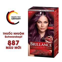 Thuốc nhuộm tóc Schwarzkopf Brillance màu 887 nâu ánh tím