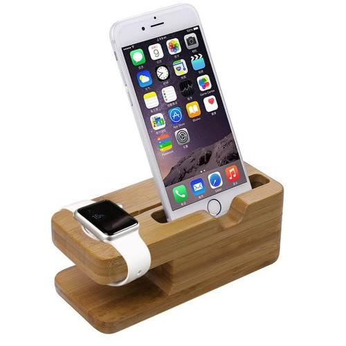 Đế sạc Dock sạc Apple watts bằng gỗ tre