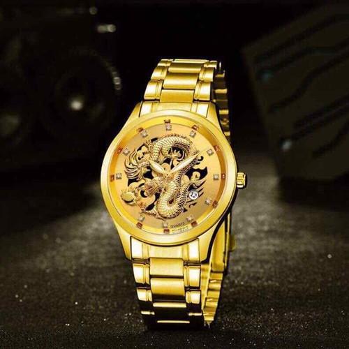 Đồng hồ rồng vàng pin