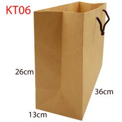10 Túi Kraft nâu KT06 kt  26 x 36 x13 cm