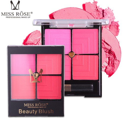 Hộp phấn má hồng 4 ô màu MISS ROSE