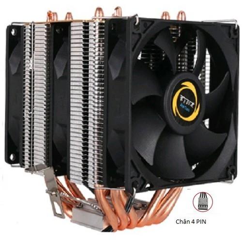 Quạt Tản Nhiệt CPU hình tháp 6 ống đồng, 3 quạt, 4 PIN cho máy tính để bàn LGA 1150 1151 1155 1156 X58 1366 X79 2011 chuyên dùng cho Game thủ, Gaming