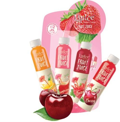 Son LipIce Sheer Color Fruit Juice anh đào đỏ tươi 3
