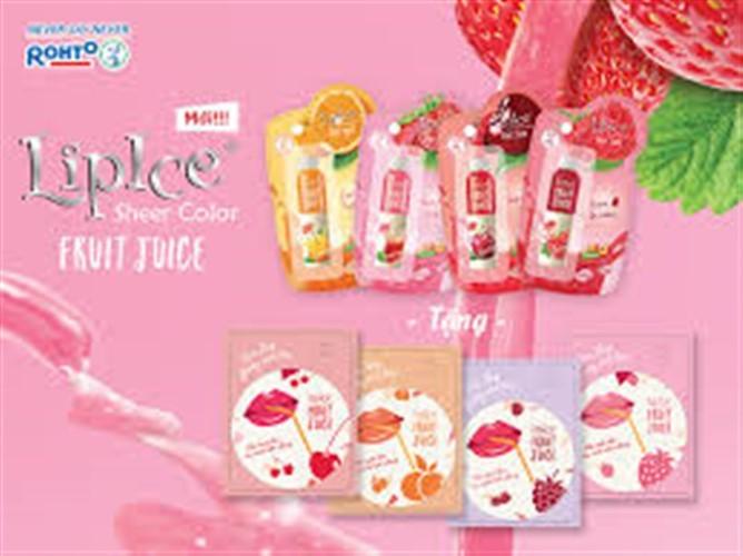 Son LipIce Sheer Color Fruit Juice anh đào đỏ tươi 2