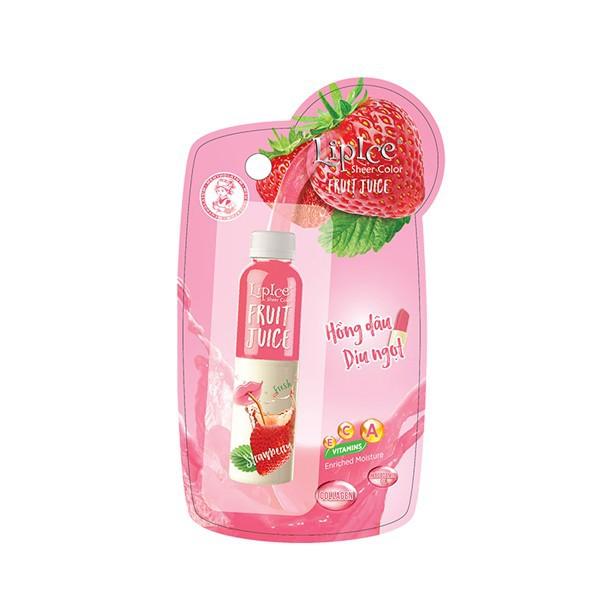 Son LipIce Sheer Color Fruit Juice hồng dâu dịu ngọt 1