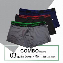 Combo 3 Quần Boxer Nam chất thun lạnh mẫu Thái - VNXK size L-XL-XXL