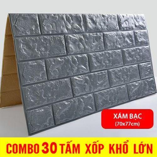 Giấy dán tường- giấy dán tường xốp 3d [30 tấm]