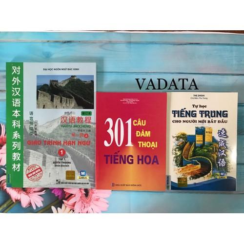 Sách - Combo Giáo Trình Hán Ngữ 1 - 301 Câu Đàm Thoại Tiếng Hoa Và Tự Học Tiếng Trung Cho Người Mới Bắt Đầu