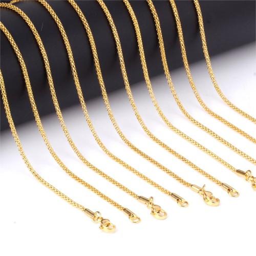 dây chuyền titan phủ vàng 18k như thật kiểu dây thừng - 4607245 , 16911451 , 15_16911451 , 85000 , day-chuyen-titan-phu-vang-18k-nhu-that-kieu-day-thung-15_16911451 , sendo.vn , dây chuyền titan phủ vàng 18k như thật kiểu dây thừng