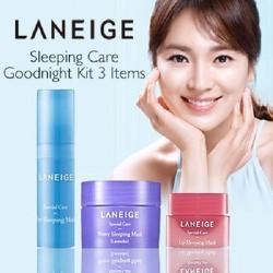 Bộ 3 mặt nạ ngủ dành cho Mặt - Mắt - Môi Laneige. Sleeping Care Good Night Kit 3 Item