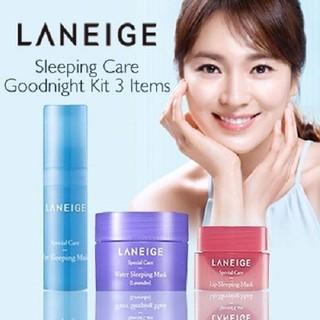 Bộ 3 mặt nạ ngủ dành cho Mặt - Mắt - Môi Laneige. Sleeping Care Good Night Kit 3 Item - Laneige. Sleeping Care thumbnail