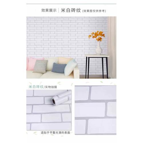 10m giấy dán tường giả gạch keo sẵn khổ 45 cm
