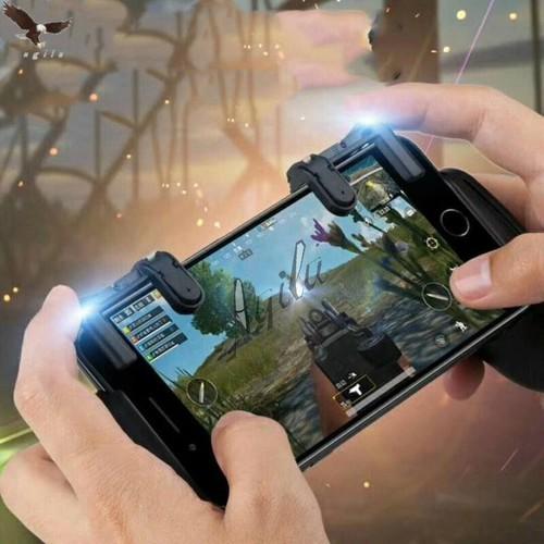 Bộ 2 nút chơi game bắn súng Rules of Survival ,PUBG ,CF mobile K01