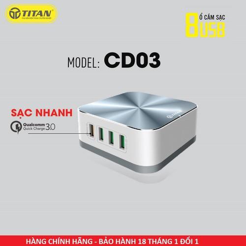 Bộ sạc 8 cổng Titan CD03 - Bảo hành 18 tháng - 6953965 , 16919654 , 15_16919654 , 675000 , Bo-sac-8-cong-Titan-CD03-Bao-hanh-18-thang-15_16919654 , sendo.vn , Bộ sạc 8 cổng Titan CD03 - Bảo hành 18 tháng