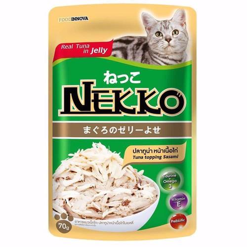Pate Nekko cho mèo vị cá ngừ và sasami dạng thạch 70g - 6938952 , 16909391 , 15_16909391 , 16000 , Pate-Nekko-cho-meo-vi-ca-ngu-va-sasami-dang-thach-70g-15_16909391 , sendo.vn , Pate Nekko cho mèo vị cá ngừ và sasami dạng thạch 70g