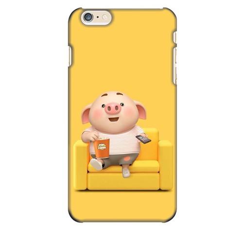 Ốp lưng nhựa cứng nhám dành cho iPhone 6S Plus in hình Heo Con Thư Giãn