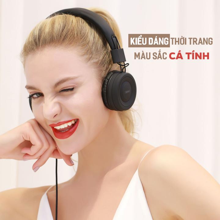 Tai nghe Remax RM-805 | RM 805 chụp tai có dây 1 jack 3.5mm 4