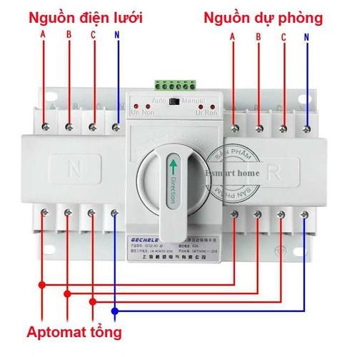 Bộ đổi nguồn điện tự động ATS 3P 63A-380V 3 pha 4 dây