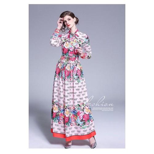 Đầm lụa họa tiết