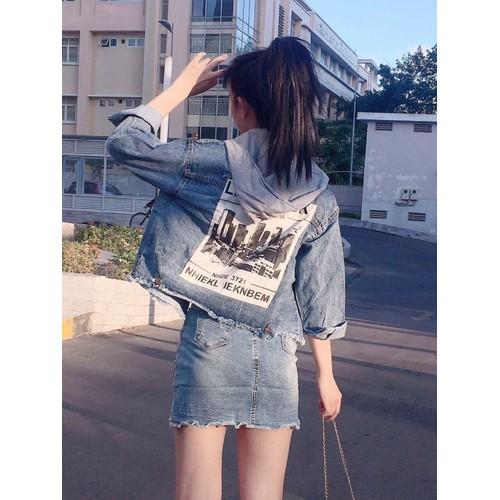 áo khoác jean nữ lưng in chữ - 6949482 , 16916453 , 15_16916453 , 249000 , ao-khoac-jean-nu-lung-in-chu-15_16916453 , sendo.vn , áo khoác jean nữ lưng in chữ
