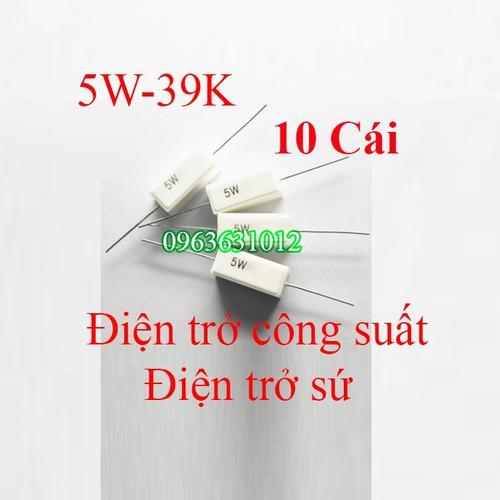 Trở công suất 5W-39K Điện trở sứ
