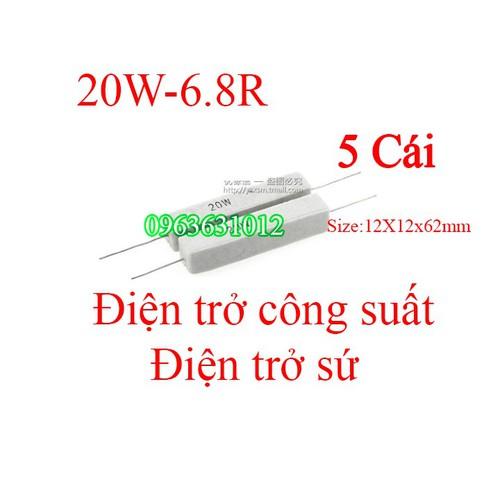 Trở công suất 20W-6.8R Điện trở sứ - 6984685 , 16939649 , 15_16939649 , 39000 , Tro-cong-suat-20W-6.8R-Dien-tro-su-15_16939649 , sendo.vn , Trở công suất 20W-6.8R Điện trở sứ