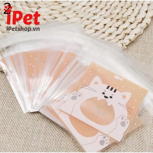 Gói 20 túi hình thú đáng yêu đựng bánh kẹo thưởng cho thú cưng chó mèo - ipet