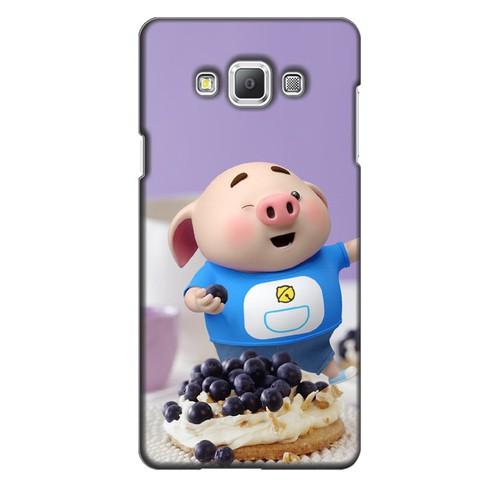 Ốp lưng nhựa dẻo dành cho Samsung Galaxy A7 in hình Heo Con Ăn Trái Cây