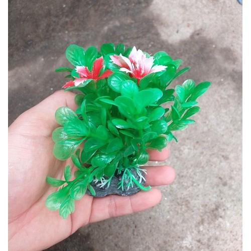 Cây nhựa trang trí bể cá: cây cỡ vừa
