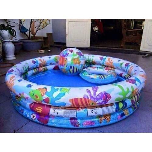 Bể bơi  3 tầng tặng bóng - phao bơi
