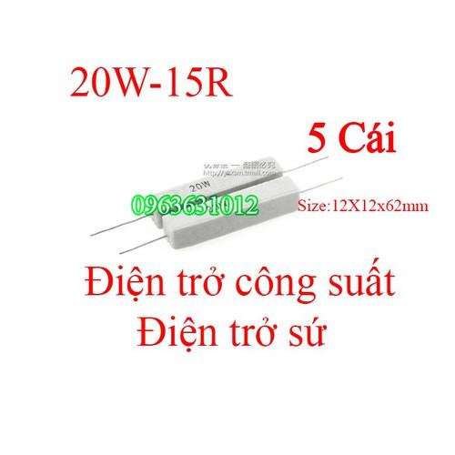 Trở công suất 20W-15R Điện trở sứ [Linh Kiện Điện Tử] - 8895664 , 18066434 , 15_18066434 , 39000 , Tro-cong-suat-20W-15R-Dien-tro-su-Linh-Kien-Dien-Tu-15_18066434 , sendo.vn , Trở công suất 20W-15R Điện trở sứ [Linh Kiện Điện Tử]