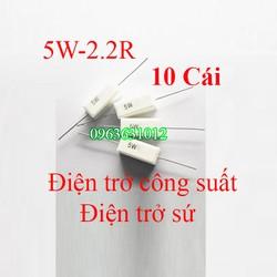 Trở công suất 5W-2R2 Điện trở sứ