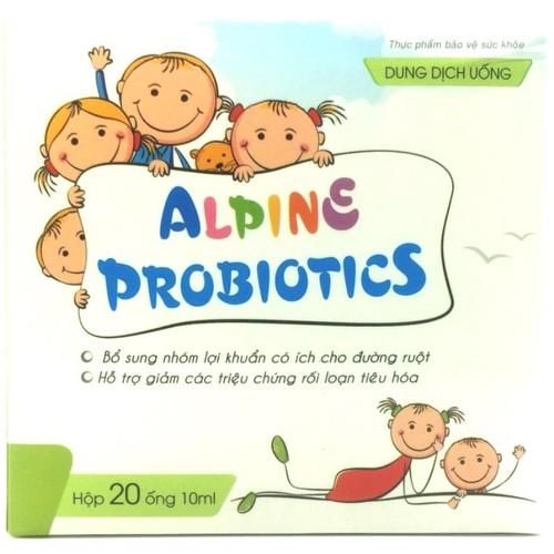 Thực phẩm bảo vệ sức khỏe ALPINE PROBIOTICS -Bổ sung lợi khuẩn, hỗ trợ giảm các triệu chứng rối loại tiêu hóa, Giúp hồi phục biểu mô ruột, giúp bệnh nhân giảm thời gian điều trị tiêu chảy, viêm ruột c - 6987816 , 16941260 , 15_16941260 , 160000 , Thuc-pham-bao-ve-suc-khoe-ALPINE-PROBIOTICS-Bo-sung-loi-khuan-ho-tro-giam-cac-trieu-chung-roi-loai-tieu-hoa-Giup-hoi-phuc-bieu-mo-ruot-giup-benh-nhan-giam-thoi-gian-dieu-tri-tieu-chay-viem-ruot-cap-va-man-t