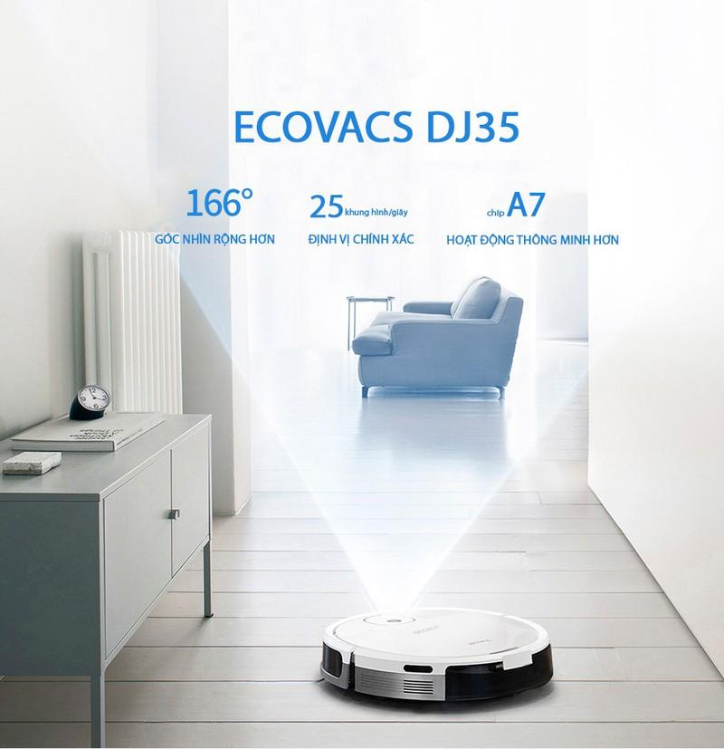 Robot hút bụi, lau nhà ecovacs DJ35 hàng trưng bày , shop aquahome 1