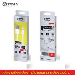 Cáp sạc Iphone, IPad Titan CA25 1M - Bảo hành 12 tháng