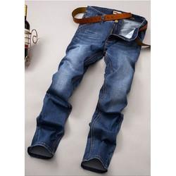 Quần Jeans Nam ống suông co giãn túi xéo phong cách công sở