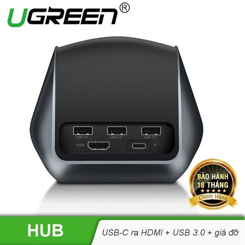 Hub USB-C đa năng mở rộng sang 3 cổng USB 3.0 và cổng HDMI kiêm chức năng giá đỡ, cốc sạc cho điện thoại thông minh UGREEN CM181 50515 - Hãng phân phối chính thức - 6990107 , 16942962 , 15_16942962 , 1350000 , Hub-USB-C-da-nang-mo-rong-sang-3-cong-USB-3.0-va-cong-HDMI-kiem-chuc-nang-gia-do-coc-sac-cho-dien-thoai-thong-minh-UGREEN-CM181-50515-Hang-phan-phoi-chinh-thuc-15_16942962 , sendo.vn , Hub USB-C đa năng mở