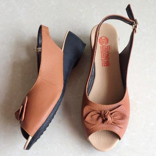 Giày đế xuồng   Giày nữ đế xuồng 3 cm da bò loại tốt