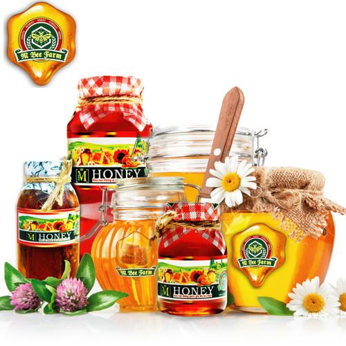 M Honey - Mật ong rừng ngâm thảo dược quí - Chai thủy tinh châu âu cao cấp, sang trọng - 200ml