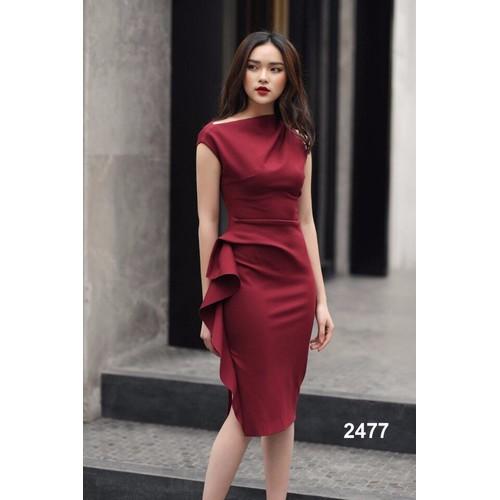 Đầm body đỏ eo nhún bèo - 7013282 , 16957070 , 15_16957070 , 420000 , Dam-body-do-eo-nhun-beo-15_16957070 , sendo.vn , Đầm body đỏ eo nhún bèo