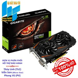 Card màn hình VGA GIGABYTE GeForce GTX 1060 3GB GDDR5 WindForce GV-N1060WF2OC-3GD - 1602568
