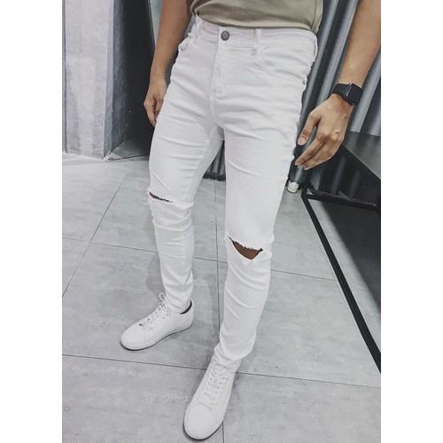 Quần jean nam rách màu trắng trẻ trung đẹp - 7020161 , 16961854 , 15_16961854 , 189000 , Quan-jean-nam-rach-mau-trang-tre-trung-dep-15_16961854 , sendo.vn , Quần jean nam rách màu trắng trẻ trung đẹp