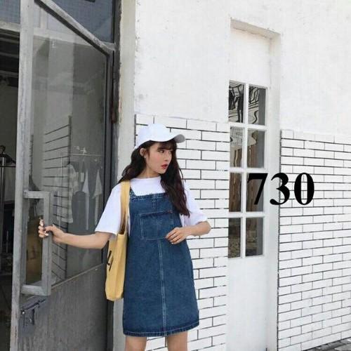 Đầm yếm jean dạo phố cực cool