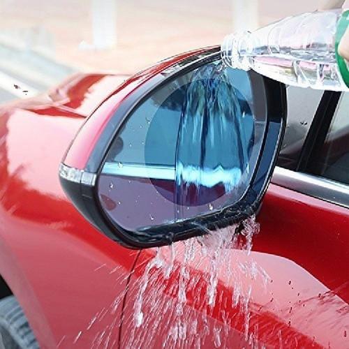 Miếng dán gương ô tô chống nước hình chữ nhật góc tròn