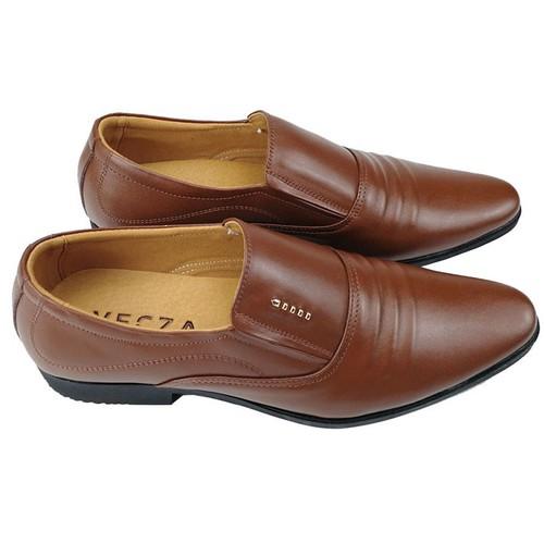 Giày nam công sở chất liệu da bò cao cấp màu nâu da bò ,  dễ phối đồ với quần âu , quần tây ... - TAM01