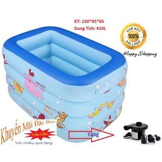 Bể Phao Bơi 3 Tầng SINPO 150cm + Tặng Bơm Điện 2 Chiều - BEBOILON thumbnail