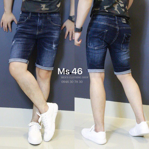 Quần short jean nam phong cách