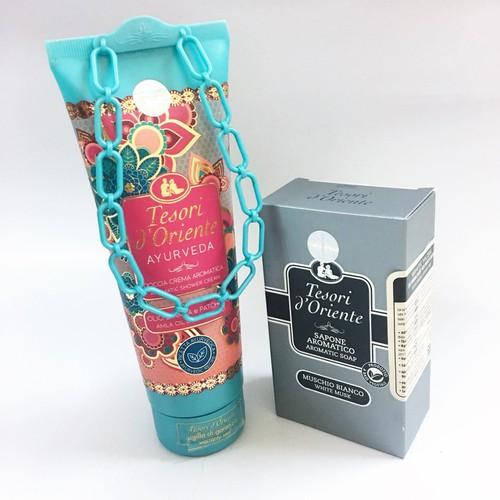 Combo Xà phòng nước Hoa + Sữa tắm Ayurveda 250ml Hương thơm tinh tế từ Italy