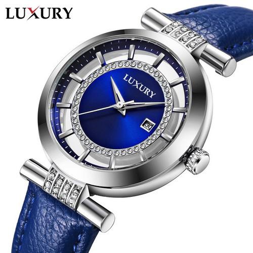 Đồng hồ Nữ LUXURY Pháp - Dây Da Cao Cấp - Hàng nhập Từ Pháp